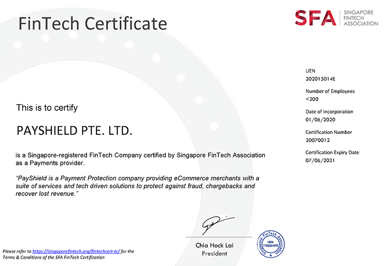 PayShield Achieves Official FinTech Company Certification